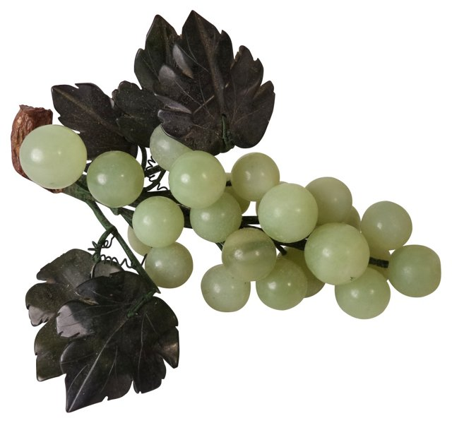 Green Polished Stone Grapes