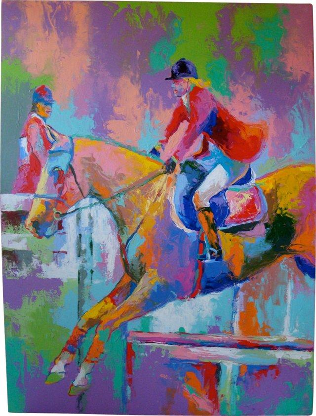 Equestrian Jumping Scene