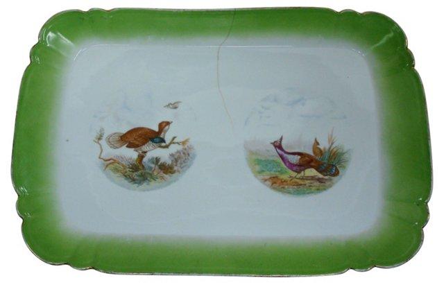 19th-C. Game Bird Serving Platter