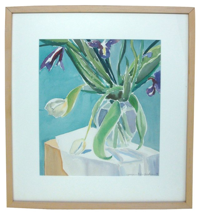 Tulips & Irises by Georgine Goodman