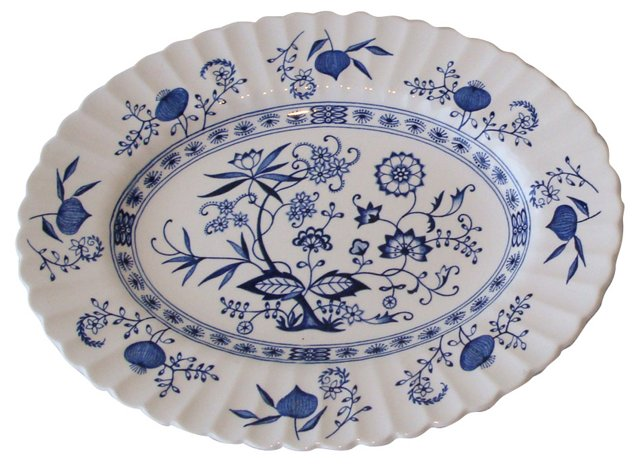 Meakin Blue Onion Platter