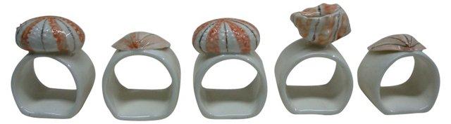 Shell Napkin Rings, S/5