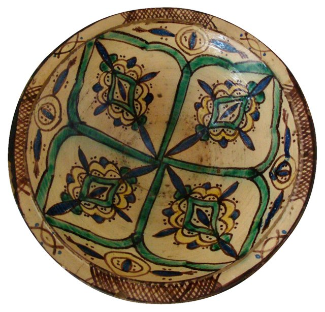 Moroccan Faience Serving Bowl