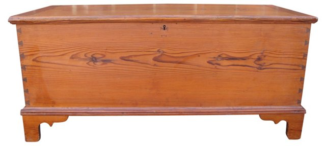 19th-C. Pine Blanket Chest