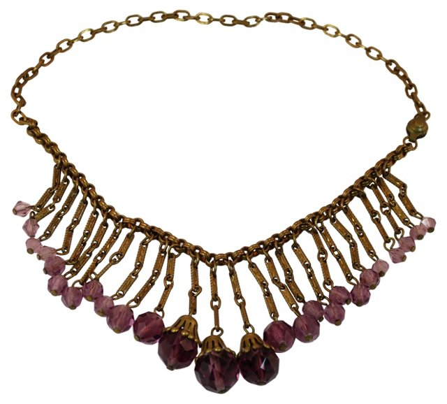 Edwardian Crystal Bib Necklace, C. 1910