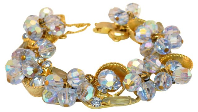 Juliana Crystal & Cup Bracelet