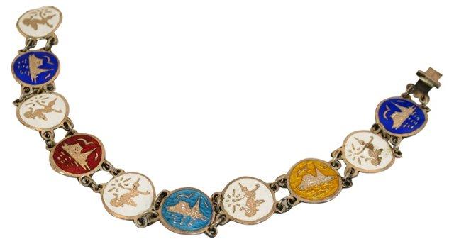 Siam Sterling Multicolor Bracelet
