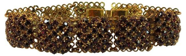 Austrian Garnet Crystal Bracelet