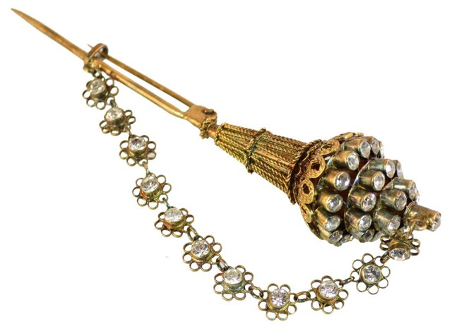 Victorian Hat Pin-Style Brooch