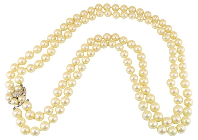 Ciner Double-Strand Pearl Necklace