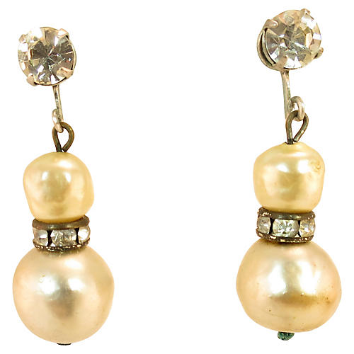 Castlecliff Faux-Pearl Baroque Earrings
