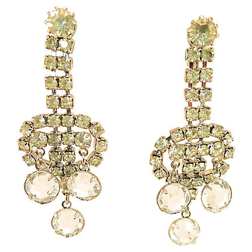 Juliana Crystal Dangle Earrings
