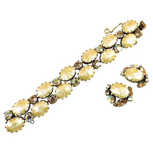 Recency Faux Baroque Pearl Bracelet Set