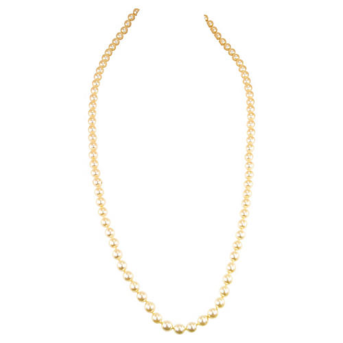 1940s Opera-Length Faux-Pearl Necklace