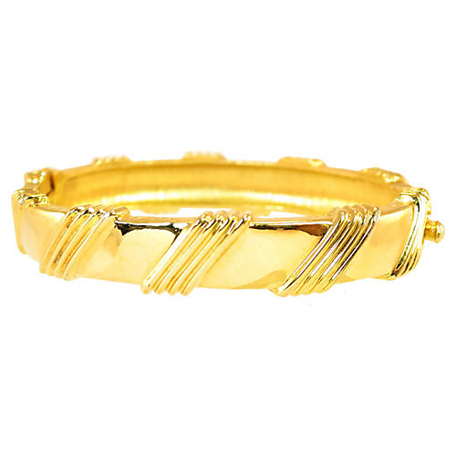 1950s Jomaz Hinged Bangle Bracelet