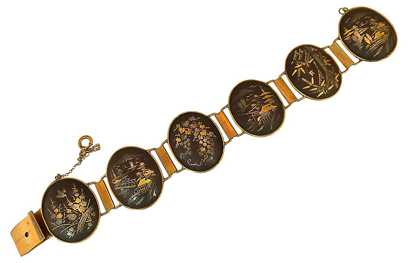 1930s Nielloware Bracelet