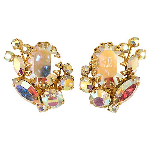 1960s Juliana Aurora Borealis Earrings