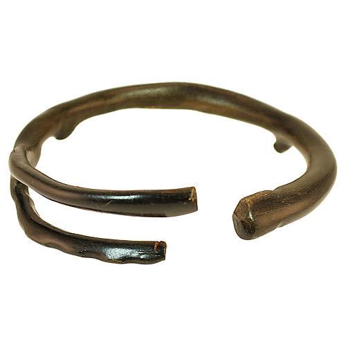1950s Black Coral Bangle Bracelet