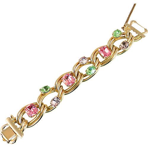 1950s Kafin Pastel Crystals Bracelet