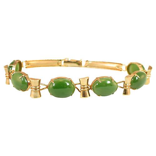 1960s Apple Jade Bracelet