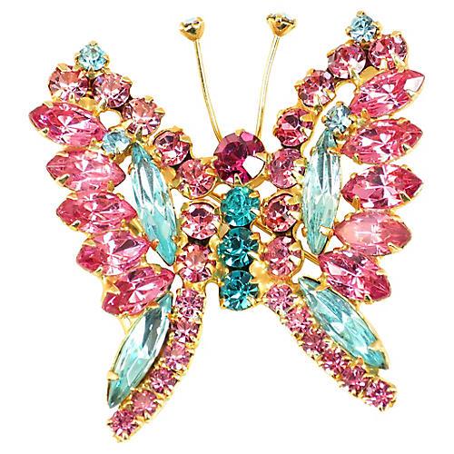 1960s Juliana Butterfly Brooch