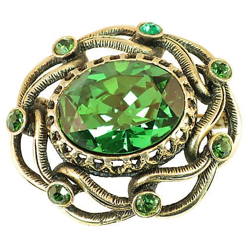 1940s Boucher Emerald Brooch