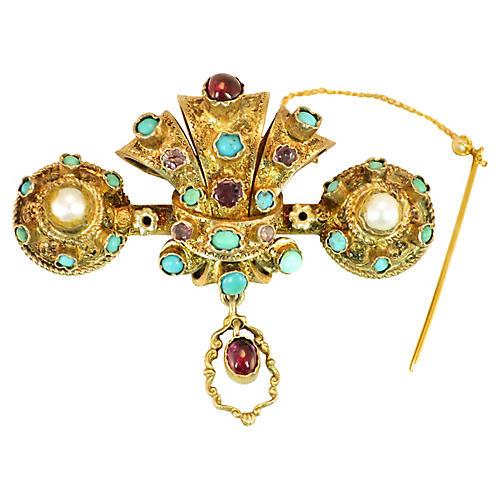 1840s Georgian Baroque Brooch