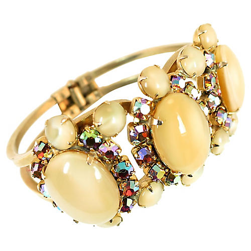 Juliana Art Glass Bracelet 1960s