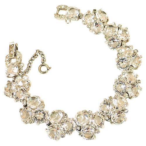 1940s Reja Sterling Crystal Bracelet