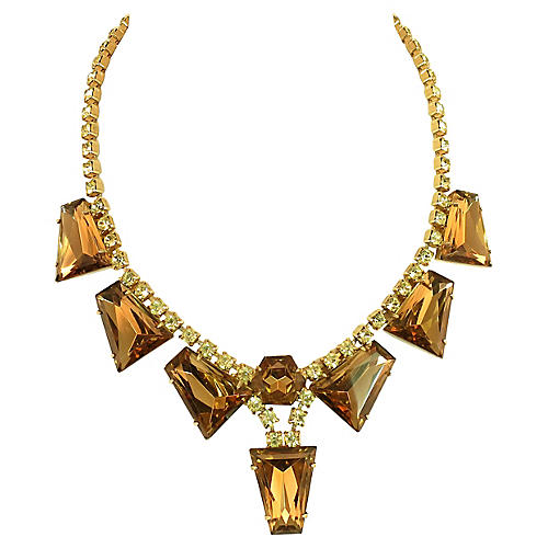 1960s Juliana Geometric Crystal Necklace
