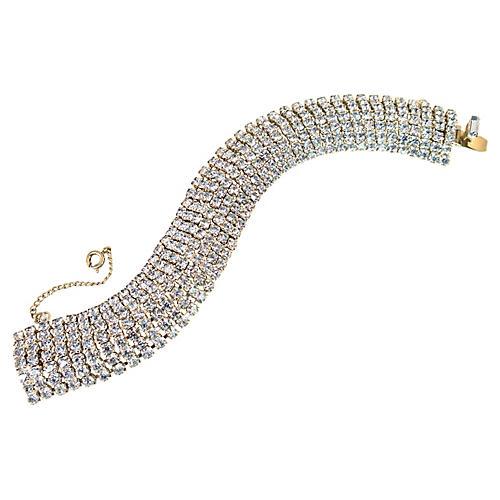 1950s Kramer Blue Crystal Bracelet