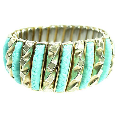 1940s Harwood Asian Turquoise Bracelet