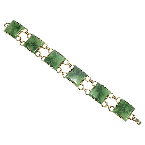 1940s Krementz Jade Bracelet