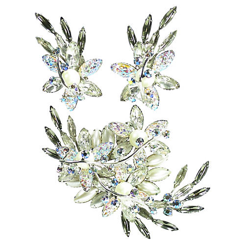 1950s Beau Jewels Winter Brooch Set