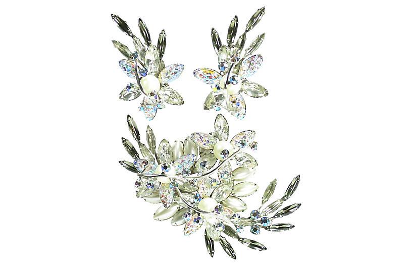 1950s Beau Jewels Winter Brooch Set