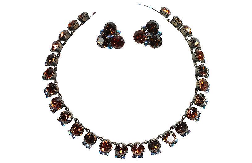 1950s Austrian Crystal Necklace Set