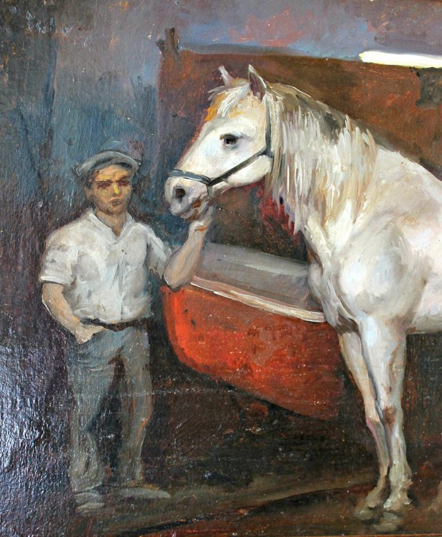 NY Stable Scene by Francis Kughler