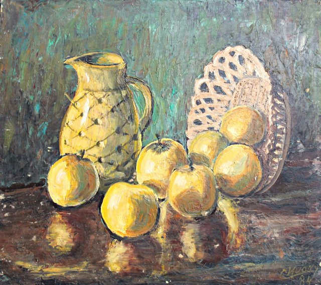 Yellow Apples by Camille Kuony
