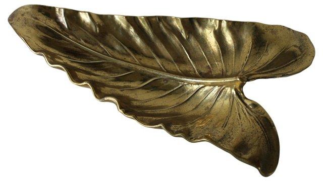 Brass Calla Lily Leaf Tray