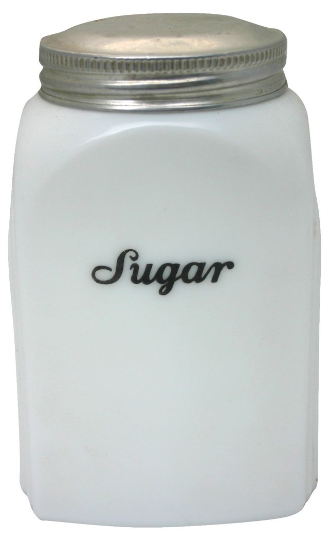 White Sugar Canister