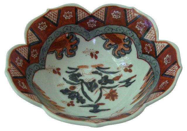 Chinoiserie Lotus Bowl