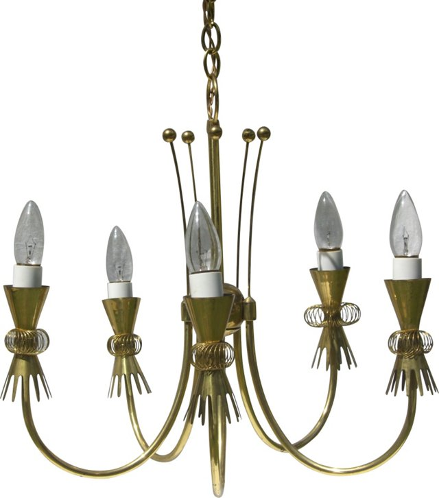 Midcentury 5-Arm  Chandelier