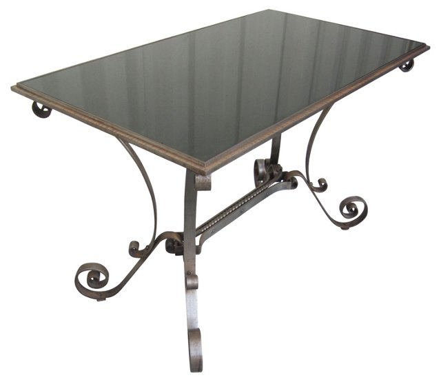 French Wrought-Iron Coffee Table