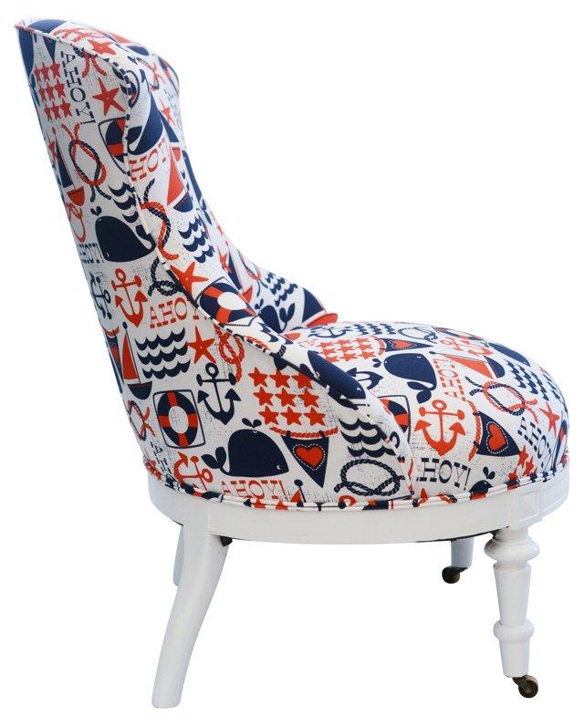 Nautical-Print  Chair