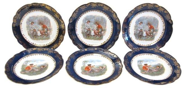 Porcelain Dessert Plates, Set of 6