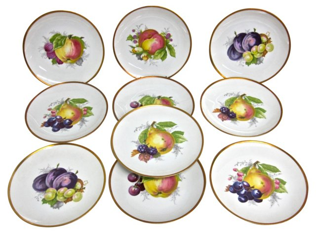 Rosenthal Fruit Plates, S/10