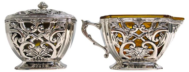 Silverplate Sugar & Creamer, Set