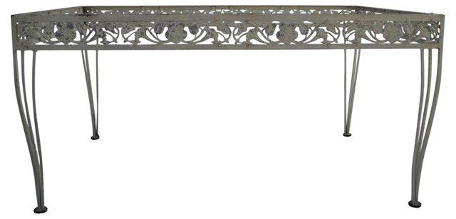 Aluminum & Iron Dning Table