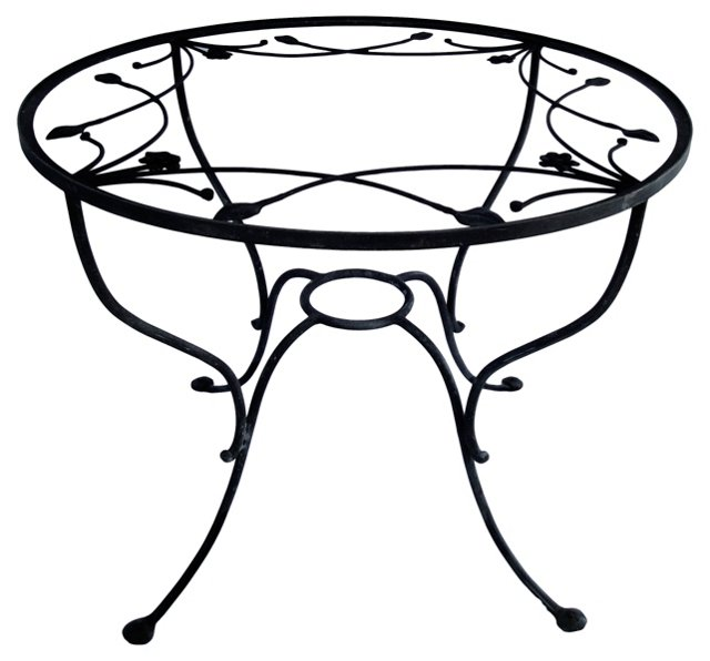 Round Wrought Iron Dining Table