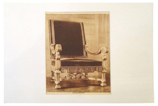 Louis XIV Armchair Print
